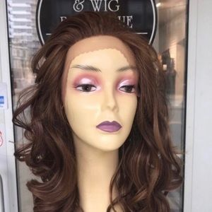 Accessories - Copper Brown Lacefront wig Freepart Swisslace 2019